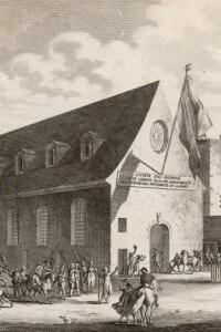 Giacobini davanti al convento di Saint-Honoré, la notte prima dell'esecuzione di Robespierre