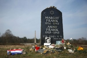 Una lapide commemorativa di Anna Frank