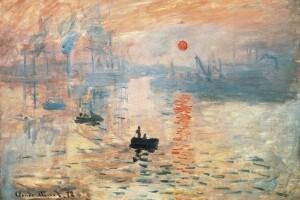 """""""Impressione, sole nascente"""", 1872, Claude Monet"""