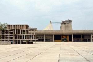 Edificio del complesso di Chandigarh, India