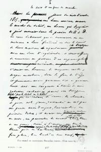 """Facsimile da una pagina del manoscritto """"I Miserabili"""""""