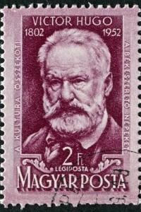 Francobollo con immagine di Victor Hugo