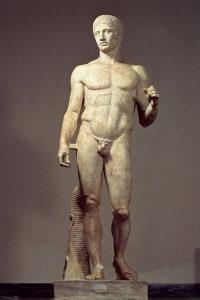 Il Doriforo, celebre statua di Policleto