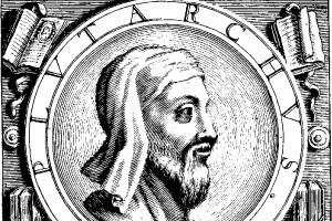 Illustrazione raffigurante Plutarco, scrittore che a più riprese parla di Spartaco
