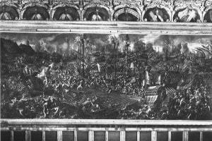 La battaglia di Lepanto: opera eseguita da Andrea Michieli e conservata nel Palazzo Ducale di Venezia