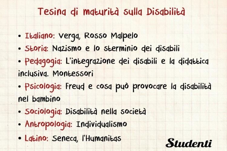 Tesina sulla Disabilità