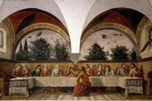 """""""Cenacolo"""" di Ognissanti, 1480, Domenico Ghirlandaio"""