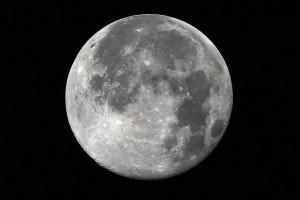 Foto della Luna in plenilunio