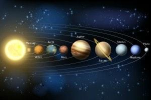 Illustrazione dei pianeti del Sistema Solare