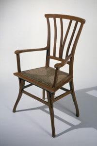 Sedia in stile Art Nouveau realizzata da Henry Van De Velde  per la sua casa ad Uccle