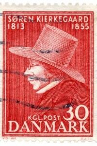 Francobollo danese raffigurante Søren Kierkegaard