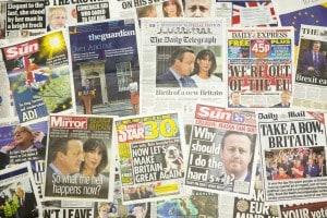I giornali dopo la Brexit