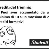 I crediti formativi del triennio