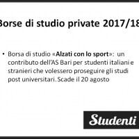 Borsa di studio 2017 AS Bari