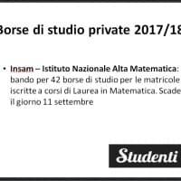 Borsa di studio 2017 per studenti iscritti ai Corsi di Laurea in Matematica, Istituto Nazionale Alta Matematica