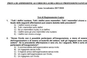 Domande e risposte test Professioni Sanitarie Università di Udine