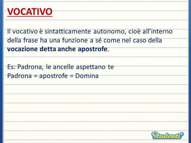 Come si traduce il vocativo semplice