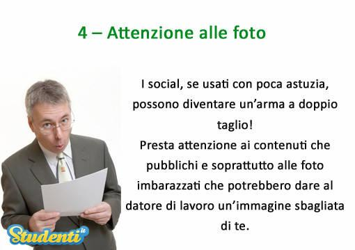 Attenzione alle foto