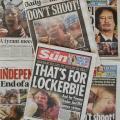 Giornali inglesi sulla morte di Gheddafi