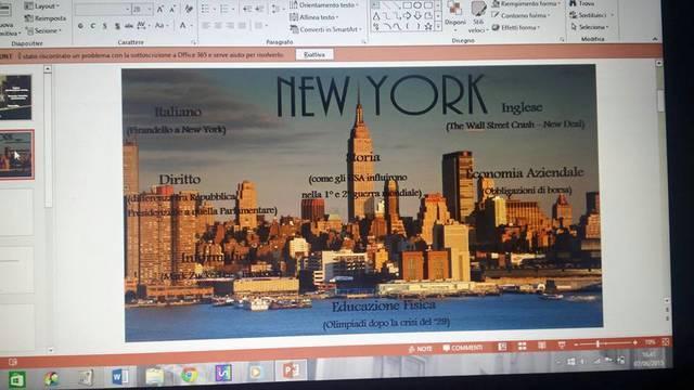 Mappa concettuale su New York