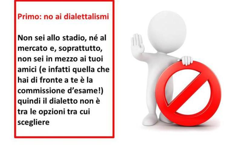 No ai dialettalismi