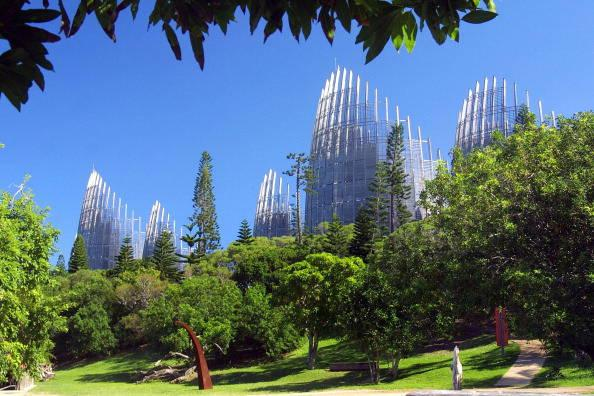 Centro Culturale Tjibaou in Noumea in Nuova Caledonia