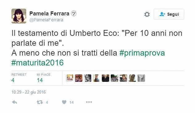 Testamento di Umberto Eco