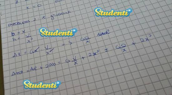 Soluzione problema 2 simulazione matematica