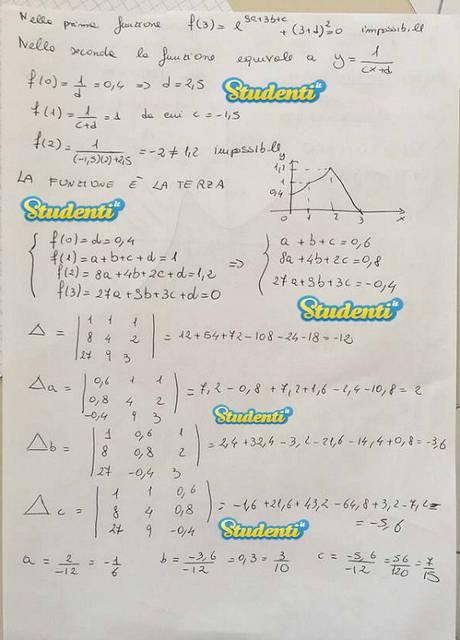 Soluzione problema 1 simulazione matematica