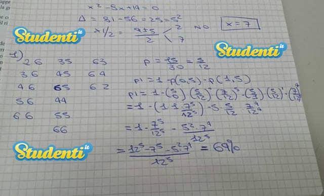 Soluzione quesito 1 simulazione matematica | Simulazione ...