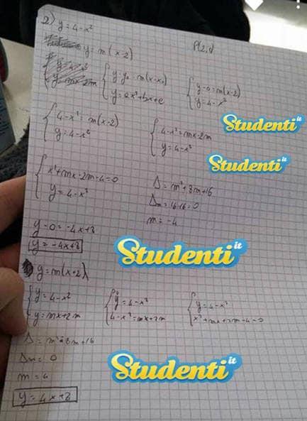 Soluzione quesito 2 simulazione matematica