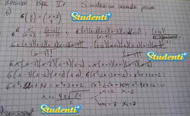 Soluzione quesito 6 simulazione matematica