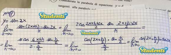 Soluzione quesito 8 simulazione matematica