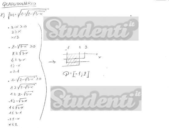 Svolgimento quesito 2 matematica tradizionale 2013