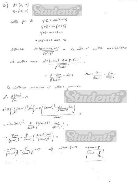 Svolgimento quesito 3 matematica tradizionale 2013