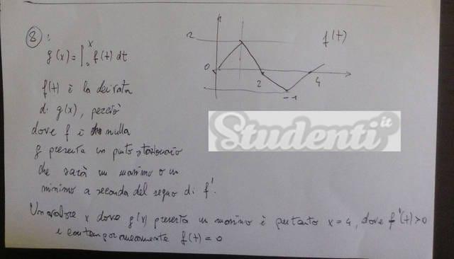 Svolgimento quesito 8 matematica tradizionale 2013