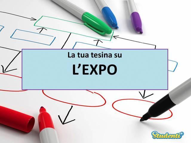 Tesina di maturità sull'Expo