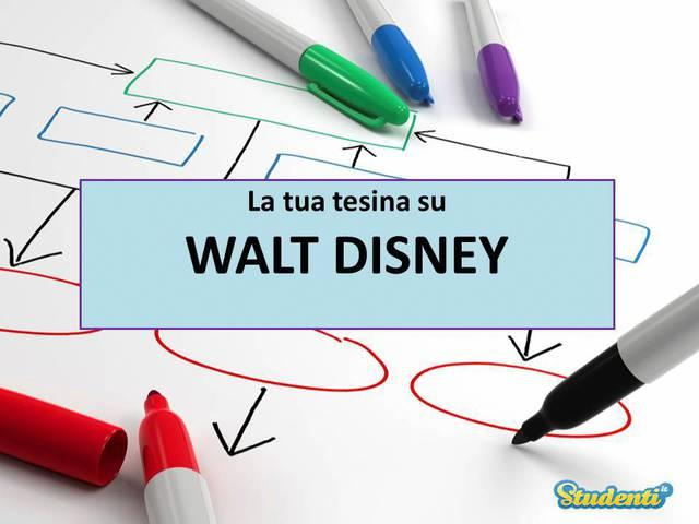Tesina su: Walt Disney