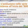 L'evoluzione scientifica