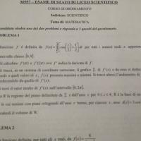 Traccia di matematica