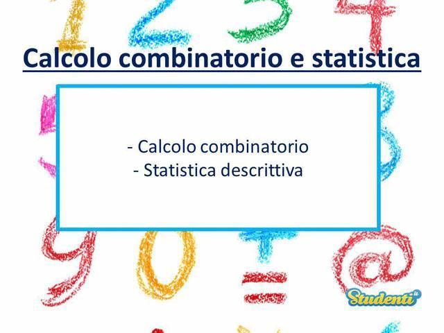 Clacolo combinatorio e statistica