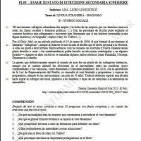 Seconda prova spagnolo, storico-sociale: comprensione del testo (parte 2)