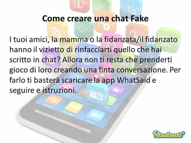 Creare una conversazione finta