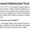 Cos'è il Graduate Management Admission Test