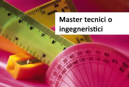 Master tecnici o ingegneristici