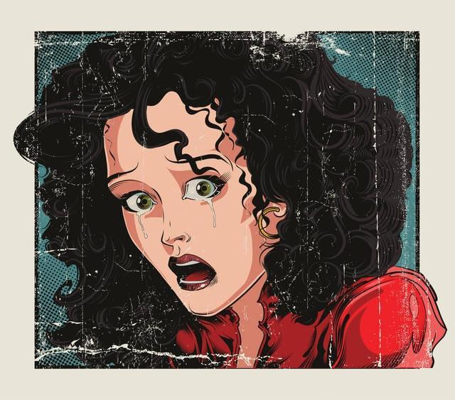 Pop art: donna che piange