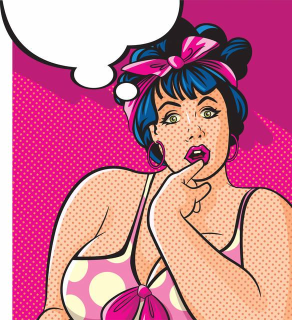 Pop art: ragazza pinup