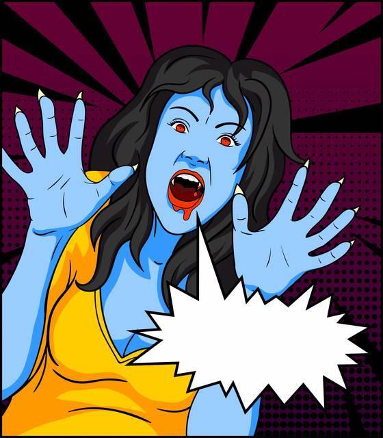 Pop art: vampire comics
