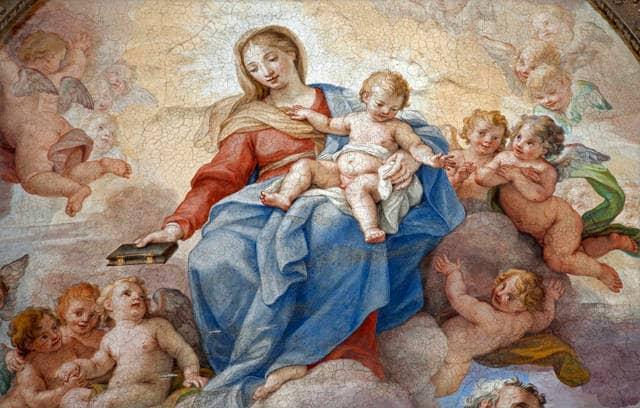 Affresco della Basilica di Santa Maria degli Angeli a Roma
