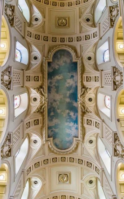 Affresco all'interno della Cattedrale di Notre Dame
